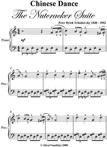 Chinese Dance Nutcracker Suite Tchaikovsky Easy Piano Sheet