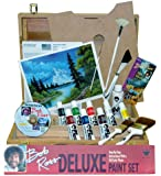 Bob Ross R6512 Deluxe Wood Box Master Paint Set With One Hour DVD