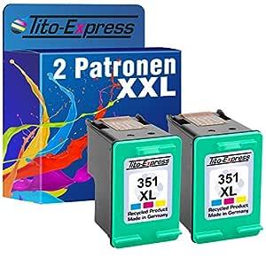 platinumserie 2 cartuchos de impresora para HP 351 XL Color ...