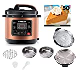 GoWISE USA 10-QT 12-in-1 Electric Pressure Cooker with Measuring...