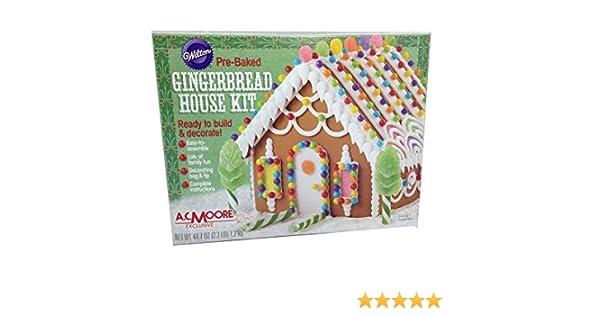 Amazon Com Wilton Pre Baked Gingerbread House Kit Ready To Build