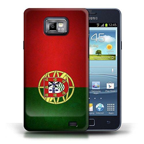 Etui / Coque pour Samsung Galaxy S2/SII / Portugal/portugais conception / Collection de Drapeau