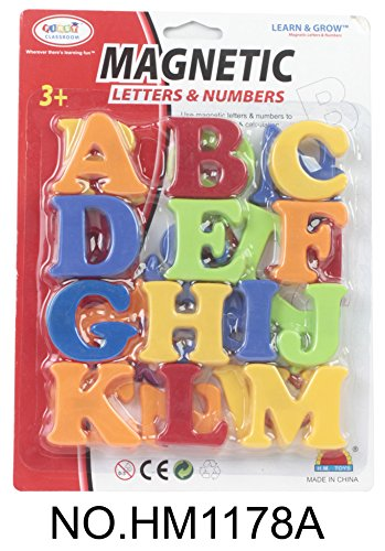 First Classroom Magnetic Capital Letters in a Blister Card, (2 Capital Letter)