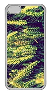 LJF phone case Customized iphone 4/4s PC Transparent Case - Wheat 3 Personalized Cover