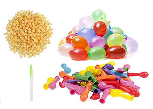 500 Water Balloons Refill kit, Included 500 Assorted Color Balloons and 500 Rubber Bands with 1 Quick and Easy Refill Tool [Straws Not Included] Greatest Value (Jarty Party (Helium Tank Refill)