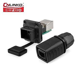 IP67 CNLINKO Plastic Type RJ45 Waterproof Connector 1//4 Bayonet Connecting rj45 ethernet Connector 8P8C Plastic Connector