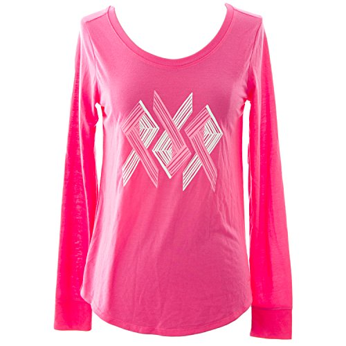 (Under Armour Womens Power in Pink Triple Ribbon Longsleeve, Cerise, Small )