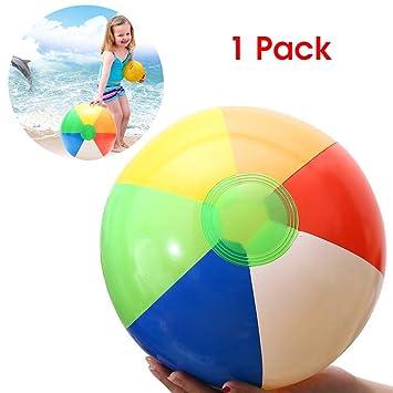 Amazon.com: MARKET 24 bolas de playa de 7.9 in con arco iris ...