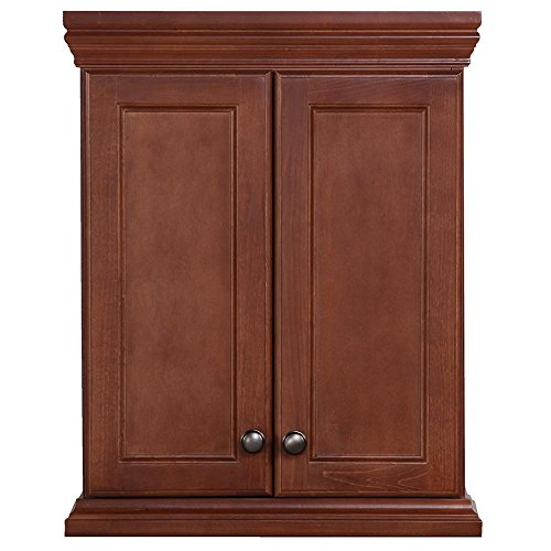 Brentwood 22 in. W x 28 in. H x 9 in. D Over the Toilet Bathroom Storage Wall Cabinet in Amber by St Paul