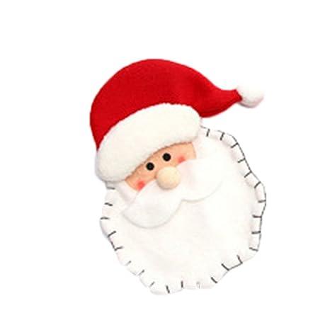 Decoracion Navidad Cubiertos de Vajilla Bolsas de Caramelo Adornos Navideños, Cubiertos Tenedores Bolsa decoración de