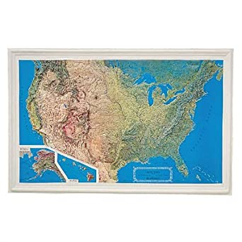 K-US3422 - United States Raised Relief Map - United States Raised ...