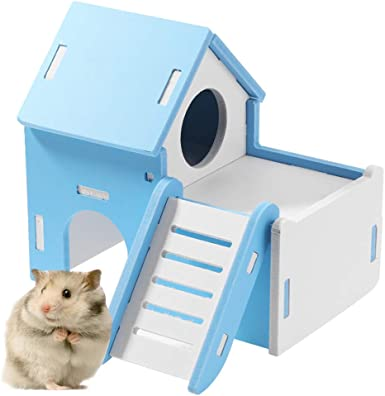 LANSKIRT Juguetes para Hamsters, Escalera de Juguete de Madera Color Hámster Pequeño Casa para Mascotas Casa Mascota para Entretenimiento Deportivo Juego de Pequeño para Mascotas: Amazon.es: Ropa y accesorios