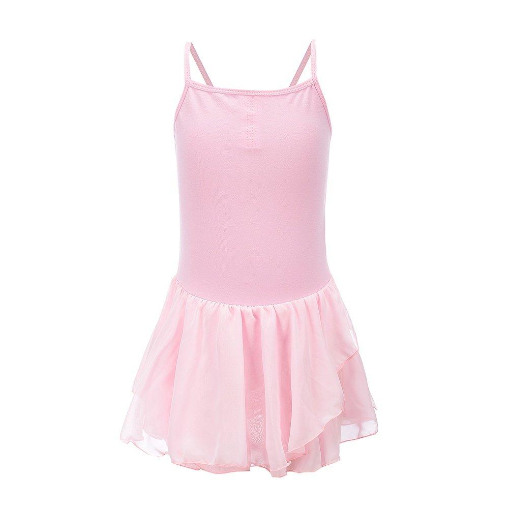 Qlan new girls Dress Gymnastics ballet leotard size 3 to 12years pink/blue/white/lilac