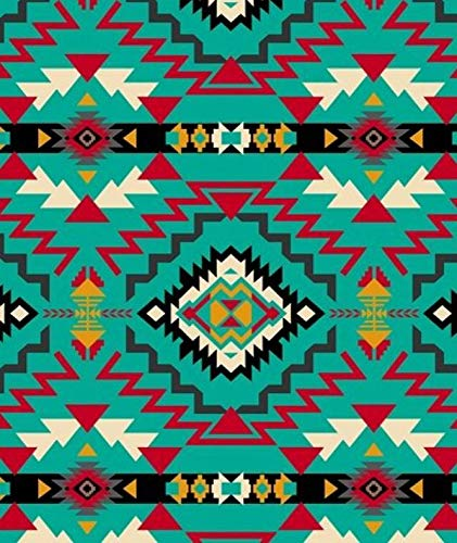 Southwest Geometric Native American Fleece Fabric - 60