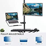 VIVO Dual Mount for 1 Laptop/Notebook & 1 LCD