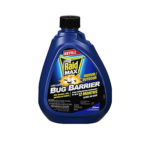 Bug Barrier Long Lasting Kills Roaches, Ants and Flies on Contact, Leaves NO Odor, Indoor Outdoor Refill -