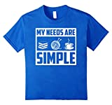 MY NEEDS ARE SIMPLE BOOKS KNITTING COFFEE SHIRT