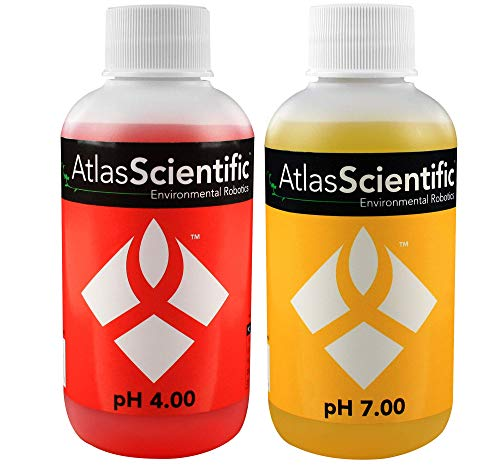 - Atlas Scientific pH Calibration Solution 4.00 & 7.00 125ml - 4oz (Pack of 2)
