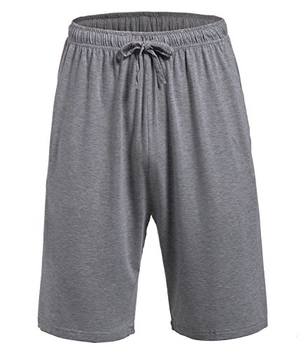 Latuza Men's Pajama Bottom Shorts XL Gray ()