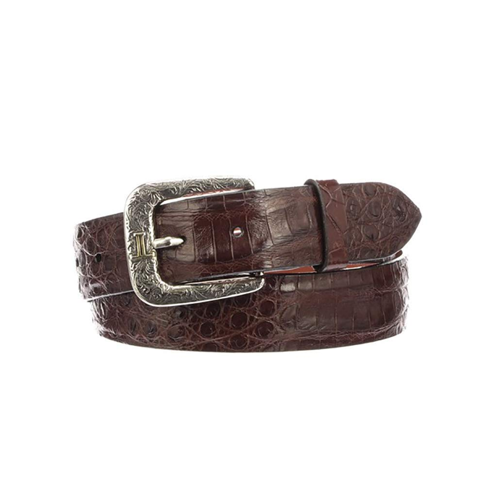 Lucchese W9411 Men's Ultra Belly Caiman Belt (Sienna) 38