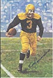 Tony Canadeo Autographed Goal Line Art Card Green Bay Packers Hall of Fame inductee 1974