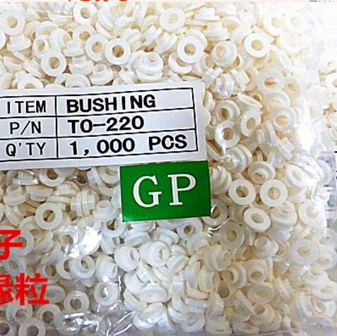 Lysee 100pcs TO-220 insulation tablets circle M3 transistor pads Bushing TO - 220 Plastic Insulation Washer