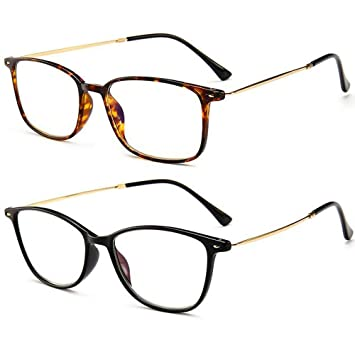 2fee855bff REAVEE Ultra Slim Reading Glasses Blue Light Blocking Lightweight Readers  Memory TR90 Computer Glasses for Men