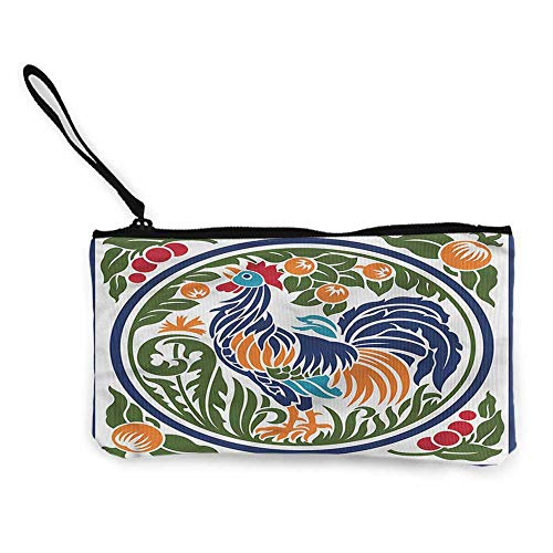 Women's Coin Pouches Gallus,Rooster Earth Harvest Season W8.5