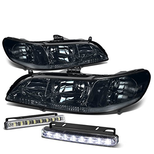 Honda Accord CG Smoke Lens Clear Corner Headlight+DRL 8 LED Fog Light - Honda Accord Corner Lens