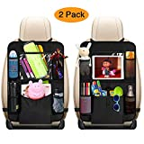 mixigoo Car Back Seat Organizer Kids - Car Organizers Covers Protectors with 10