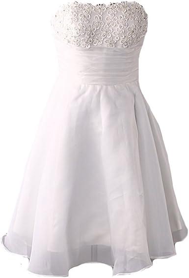 Kivary Women S Short A Line Knee Length Beach White Bridal Wedding Dresses At Amazon Women S Clothing Store,Flower Girl Dresses For Winter Wedding