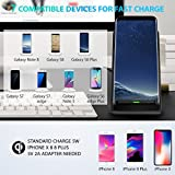 Seneo iPhone X Wireless Charger, Fast Wireless Charger Charging Pad Stand(No AC Adapter) for Galaxy Note 8/5 S8/S8 Plus S7/S7 Edge S6 Edge Plus Standard Charge for iPhone X /8/8 Plus Galaxy S9/S9 Plus