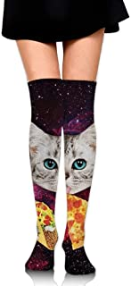 Taco Cat Pizza Upgraded Knee High Graduated Compression Socks for Women and Men - Best Medical,Nursing,Travel & Flight Socks - Running & Fitness 50CM
