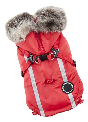 Puppia Clark Winter Fleece Vest, Medium, Red by Puppia (Image #2)