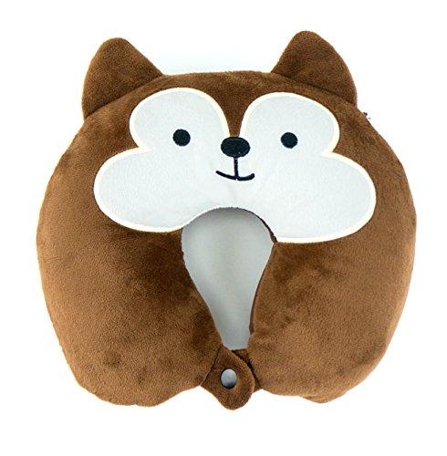 Kids Neck Pillow (Squirrel) - Toddler Size 2-5 Yrs