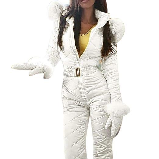 Majome Traje de Nieve cálido de Invierno para Mujer Pantalones ...