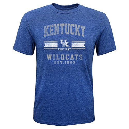 - Gen 2 NCAA Kentucky Wildcats Youth Boys Player Pride Tri-Blend Tee, Youth Boys Medium(10-12), Royal