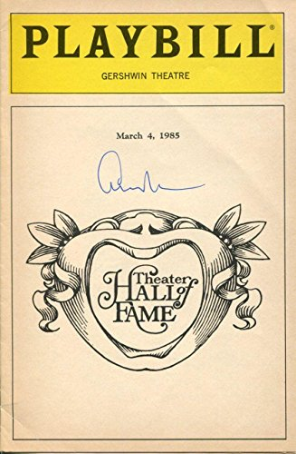 Edward Albee Theater Hall of Fame 1985 Rare Signed Autograph Playbill Program 1985 Hall Of Fame