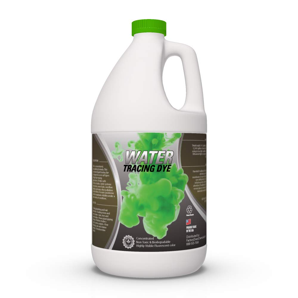 Green Water Tracing & Leak Detection Flourescent Dye - 1 Gallon by EcoClean Solutions