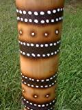 Hand Crafted, Fire Roasted Deluxe Didgeridoo by RiverMan - Rings and Stars