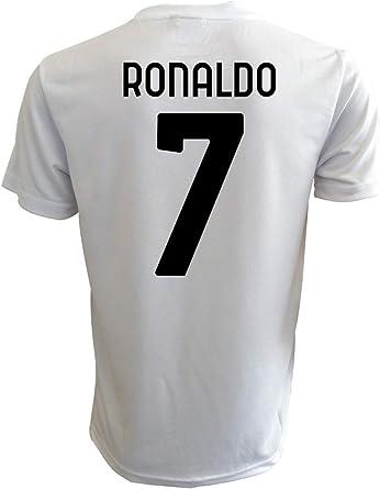 Camiseta Ronaldo Juventus blanca oficial 2021 CR7 Cristiano Juve 2020-2021 para adulto niño o niño: Amazon.es: Deportes y aire libre