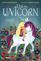 """Turning the familiar theme of kids and unicorns on its head, this sweet story is about a unicorn who believes that little girls are real. This is an imaginative story of friendship and believing."" - Seira Wilson, Amazon EditorAmy Krouse Rose..."