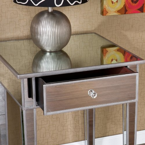 Southern Enterprises Bardot Mirrored Accent table