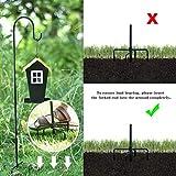 Shepherd-Hooks Adjustable for Bird-Feeder Lantern