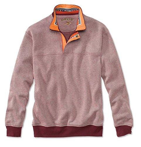 Orvis Men's Nylon-Trimmed Sweatshirt, Burgundy, Large