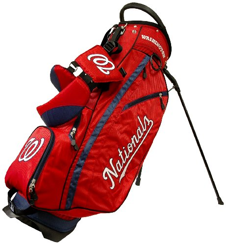 - Team Golf MLB Washington Nationals Fairway Golf Stand Bag, Lightweight, 14-way Top, Spring Action Stand, Insulated Cooler Pocket, Padded Strap, Umbrella Holder & Removable Rain Hood