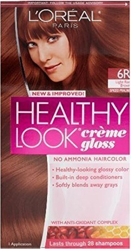 L'oreal Healthy Look Creme Gloss Hair Color 6r Red Brown (Pack of 6) by L'Oreal Paris