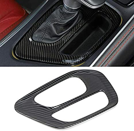 Moligh doll For Challenger 2015-2019 Carbon Fiber Gear Shift Box Panel Cover Trim