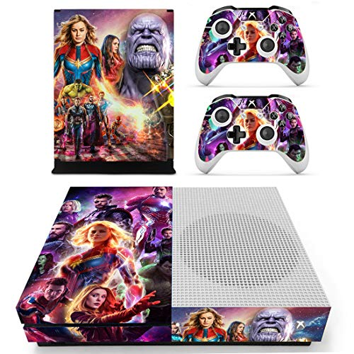 Decal Moments Xbox One S(Slim)Console Skin Set Vinyl Decal Sticker Protective for Xbox One S(Slim) Console Controllers Avengers (Xbox Avenger Controller)