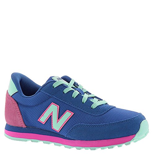 New Balance KL501 Youth Lace Up Running Shoe (Little Kid/Big Kid), Blue/Light Blue/Pink, 12 M US Little Kid